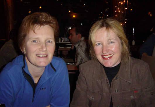 Joyce (l) en Ingrid Riper